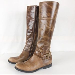 Matisse Brown Blakely Saddle Riding Boots